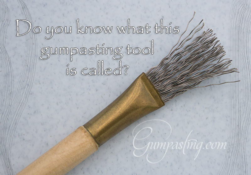 {Wire Detailing Brush for Gumpasting}